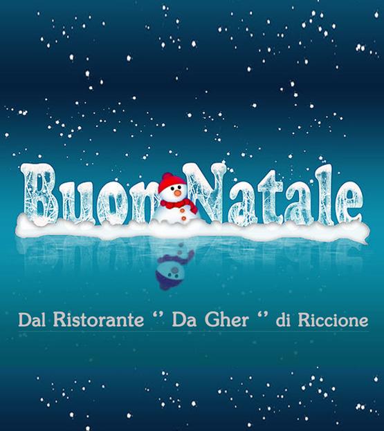 Buon Natale dal Ristorante Da Gher di Riccione e il suo Focone